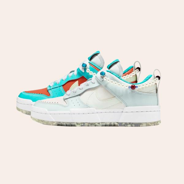 Кросівки Nike Dunk Low Disrupt із перлинами й «мармуровою» підошвою