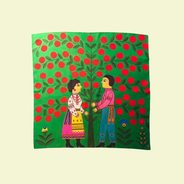 Казкова хустка Oliz за мотивами картин Марії Примаченко — Вішлист на Wonderzine
