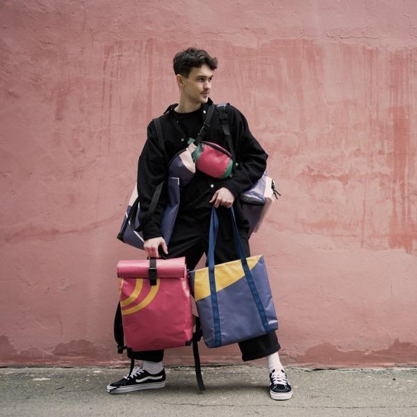 Рюкзак, виготовлений із банерів zero waste виставки про Лесю Українку  — Вішлист на Wonderzine