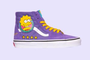 Кеди із зображенням Ліси Сімпсон із колаборації Vans x Simpsons