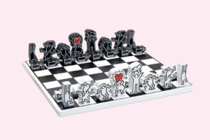 Авангардні шахи від MoMa Design в стилі робіт Кіта Харінга