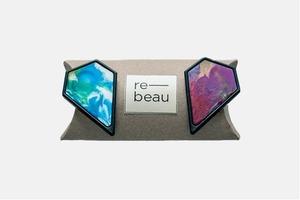 Сережки Re-beau з переробленого пластику